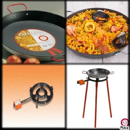 kit paella anti adh rent plat paella poele r chaud plancha gaz et lectrique mat riel. Black Bedroom Furniture Sets. Home Design Ideas