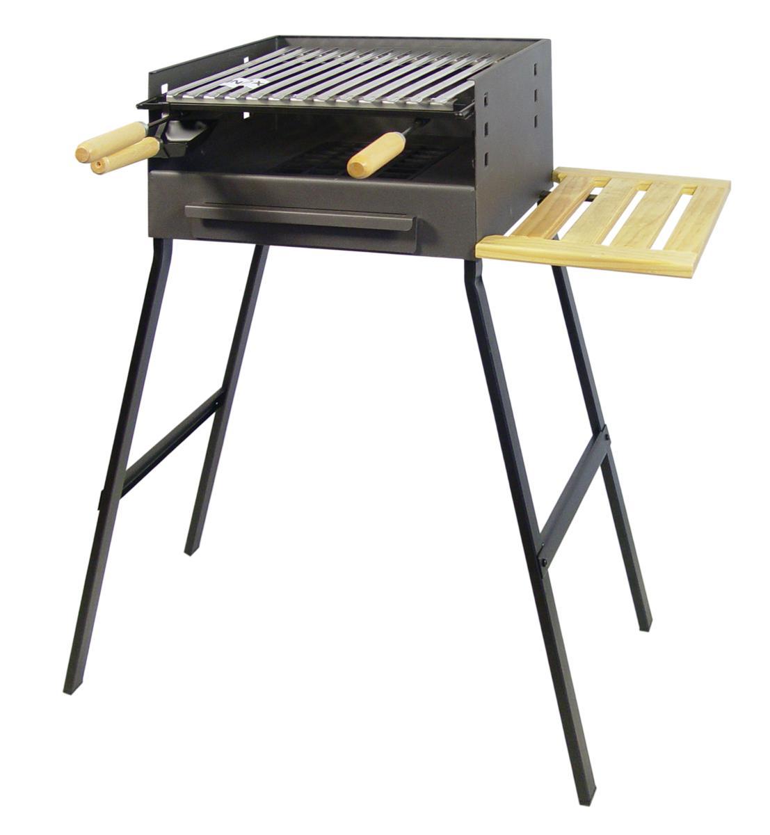 barbecue charbon bois sur pied de 44cm. Black Bedroom Furniture Sets. Home Design Ideas