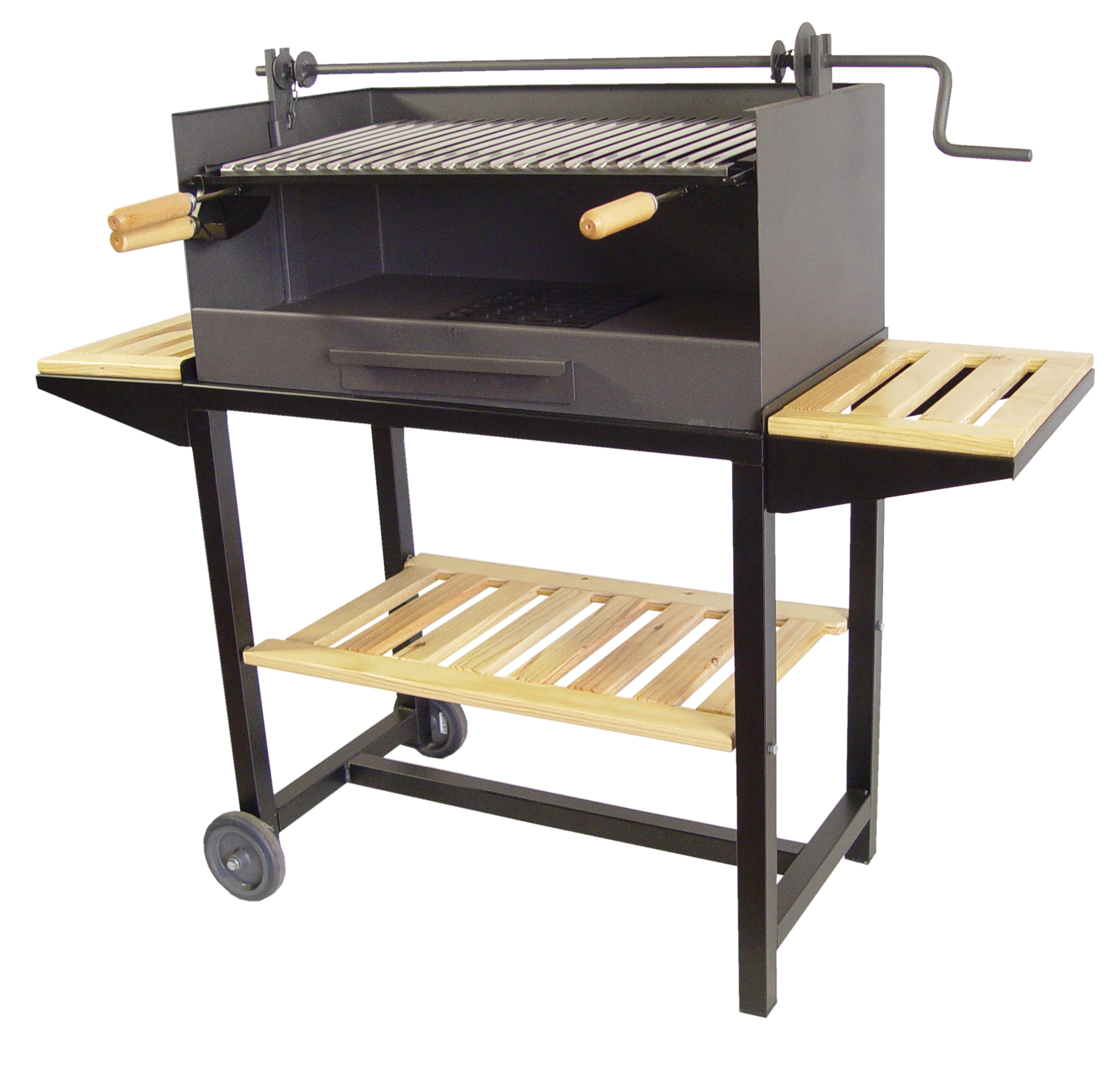 barbecue charbon a roulette