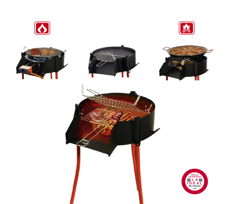 barbecues garcima barbecue rond charbon de bois ou gaz. Black Bedroom Furniture Sets. Home Design Ideas